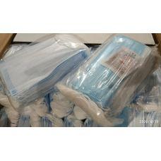 Медицинские маски 3х-слойные с фильтром (МЕЛЬТБЛАУН), с зажимом для носа, захисна маска для лиця 3х-слойна