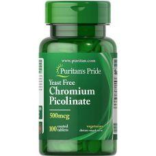 Хром пиколинат Puritan's Pride  Chromium Picolinate 500 мкг 100 таб