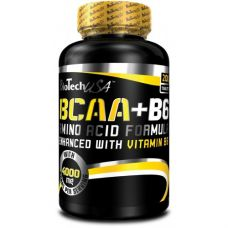 Аминокислоты BioTech USA BCAA+B6 200 таб