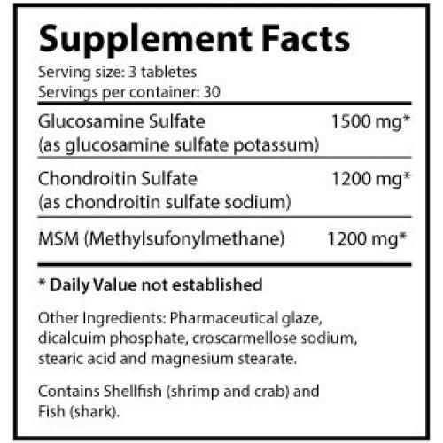 Ultimate Glucosamine & Chondroitin MSM 90 таб. Производитель: Ultimate Nutrition