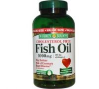 Nature's Bounty Fish Oil Cholesterol Free 1000mg 180 капс