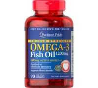 Puritan's Pride Omega-3 Fish Oil Double Strength 1200 mg 90 капсул