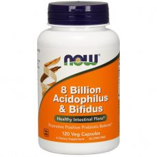 NOW 8 Billion Acidophilus & Bifidus 120 caps