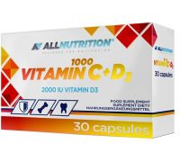 All Nutrition Vitamin C + D3 1000 30 caps
