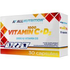 Витамины AllNutrition Vitamin C + D3 1000 30 caps
