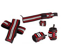 Кистевые бинты MEX Pro Wrist Wraps Red/Black/White