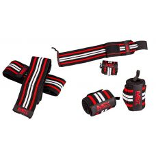 Кистевые бинты MEX Pro Wrist Wraps Red/Black/White