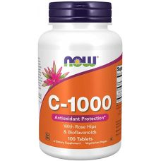 Витамины NOW Vitamin C-1000 with rose Hips 100 tab