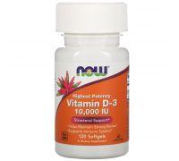 NOW Vitamin D3 10 000 МЕ 120 softgels