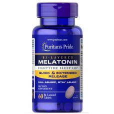 Puritan's Pride Bi-Layered Melatonin 5 mg 60  tab