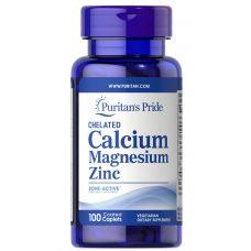 Puritan's Pride Chelated Calcium Magnesium Zinc 100 caplets