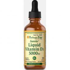 Витамины Puritan's Pride Liquid Vitamin D3 5000 IU 59 ml
