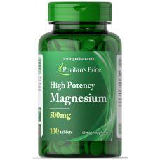 Витамины Puritan's Pride Magnesium 500 mg 100 caplets