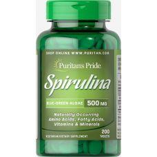 Puritan's Pride Spirulina (Спирулина) 500 мг 200 таб