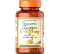 Puritan's Pride Vitamin C 500 mg with Bioflavonoids & Rose Hips 100 caplets