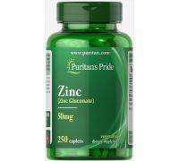 Puritan's Pride Zinc 50 mg 250 caplets