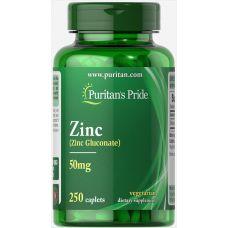 Витамины Puritan's Pride Zinc 50 mg 250 caplets