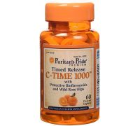 Puritan's Pride Vitamin C 1000 mg with Rose Hips Timed Release 60 caplets