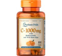 Puritan's Pride Vitamin C 1000 mg with Bioflavonoids & Rose Hips 100 caplets