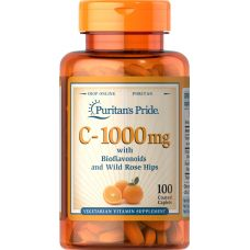 Витамины Puritan's Pride Vitamin C 1000 mg with Bioflavonoids & Rose Hips 100 caplets