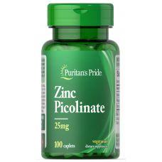 Витамины Puritan's Pride Zinc Picolinate 25 mg 100 Caplets