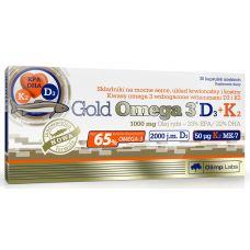 Жирные кислоты Olimp Gold Omega-3 D3+K2 30 caps