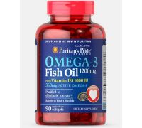 Puritan's Pride Omega 3 Fish Oil 1200 mg plus Vitamin D3 1000 IU 90 Softgels