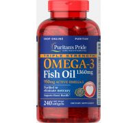 Puritan's Pride Triple Strength Omega-3 Fish Oil 1360 mg 240 softgels