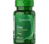 Puritan's Pride Zinc 25 mg 100 tab